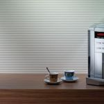 RIVA ribbed wall panels, white - Coffee Bar